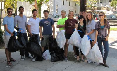 Geology club members cleaning up the Peninsula, October 1, 2011.